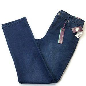 Gloria Vanderbilt Rail Straight Jeans Size 10